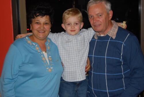Birthday with grandparents